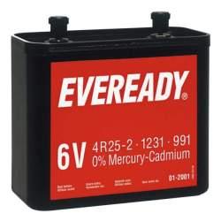 Pile Spéciale 6V 4R25-2 / 991 Eveready Saline 6V (par 1)
