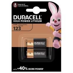 2 Piles CR123 Duracell Lithium 3V