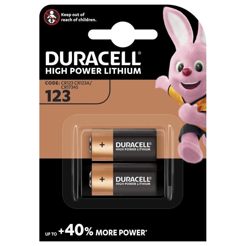 Duracell Lithium 3V 123 par 2