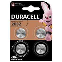 4 Piles CR2032 Duracell Bouton Lithium 3V