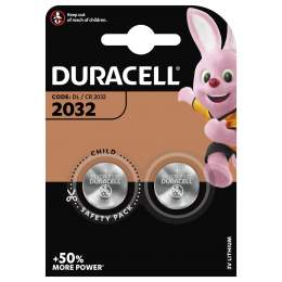2 Piles CR2032 Duracell Bouton Lithium 3V
