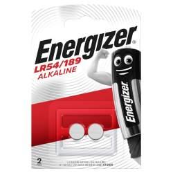 2 Piles LR54 / 189 / V10GA Energizer Alcaline 1,5V