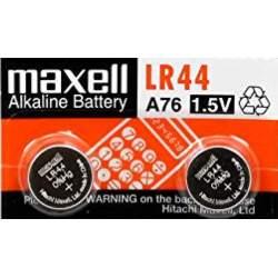 2 Piles LR44 / A76 / V13GA Maxell Alcaline 1,5V