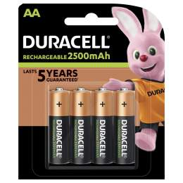 4 Piles Rechargeables AA / HR6 2500mAh Duracell