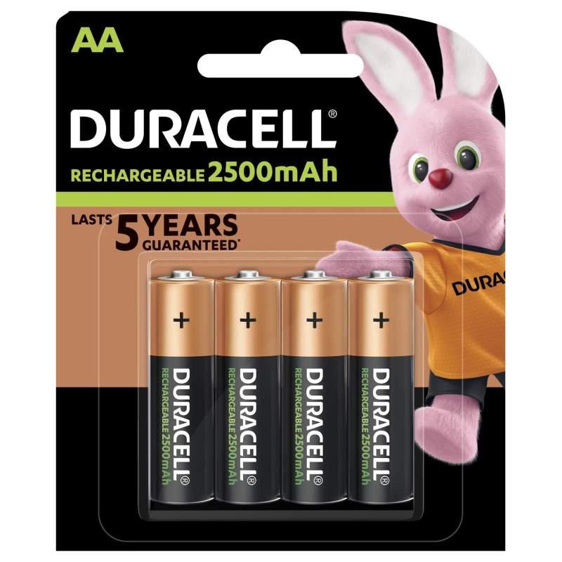 Duracell Rechargeable AA / HR6 2500mAh par 4