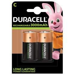 2 Piles Rechargeables C / HR14 3000mAh Duracell