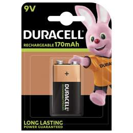 Pile Rechargeable 9V / 6HR61 170mAh Duracell