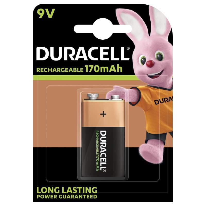 Duracell Rechargeable 9V / 6HR61 170mAh par 1