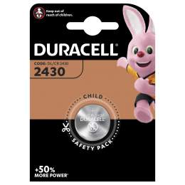 Pile CR2430 Duracell Bouton Lithium 3V