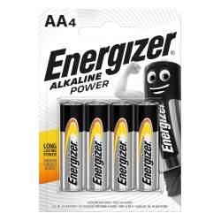 4 Piles AA / LR6 Energizer Alcaline Power