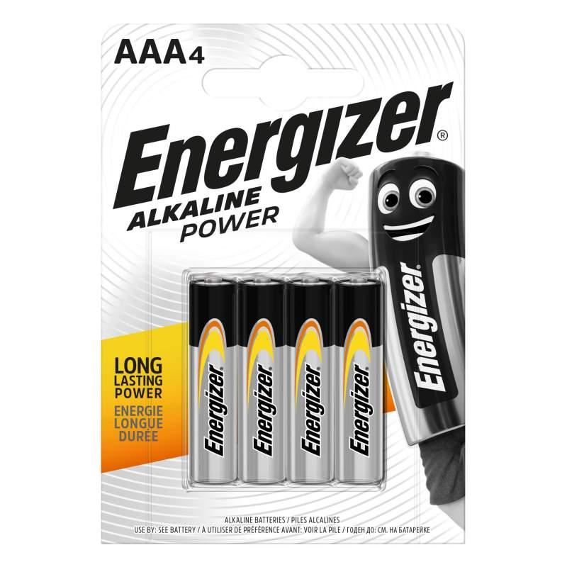 Energizer Alcaline Power AAA / LR03 par 4