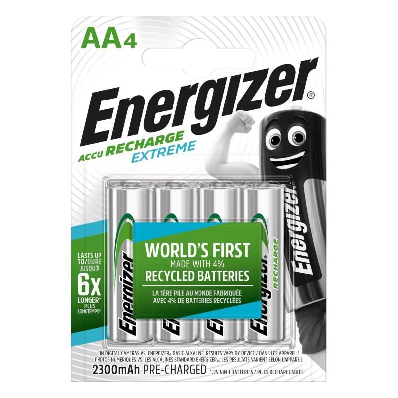 Energizer Rechargeable Extreme AA / HR6 2300mAh par 4