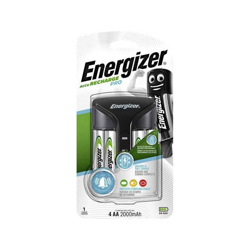 Energizer Chargeur Pro avec 4 piles AA 2000mAh