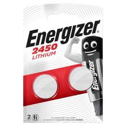 2 Piles CR2450 Energizer Bouton Lithium 3V