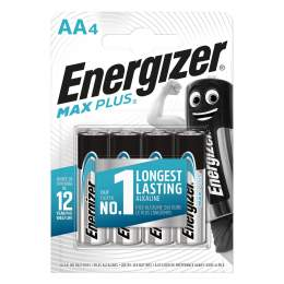 4 Piles Alcalines AA / LR6 Energizer Max Plus
