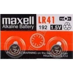 2 Piles LR41 / 192 / 392 / 384 Maxell Alcaline 1,5V