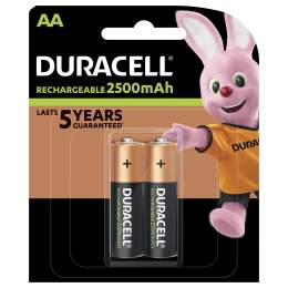 2 Piles Rechargeables AA / HR6 2500mAh Duracell