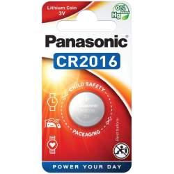 Pile CR2016 Panasonic Bouton Lithium 3V