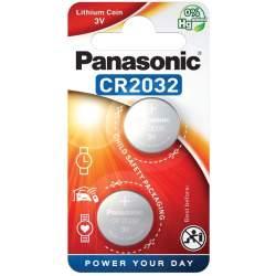 2 Piles CR2032 Panasonic Bouton Lithium 3V