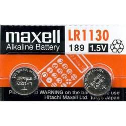 2 Piles LR54 / LR1130 / 189 Maxell Alcaline 1,5V
