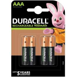 4 Piles Rechargeables AAA / HR03 900mAh Duracell
