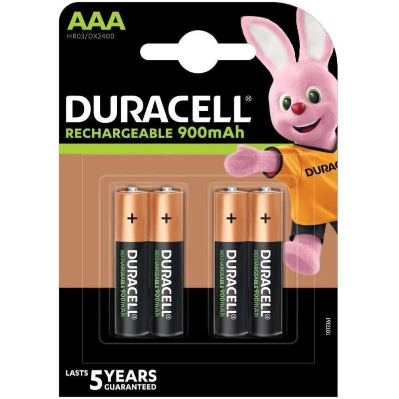 Duracell Rechargeable AAA / HR03 900mAh par 4