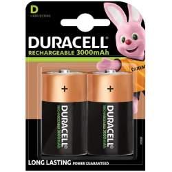 2 Piles Rechargeables D / HR20 3000mAh Duracell