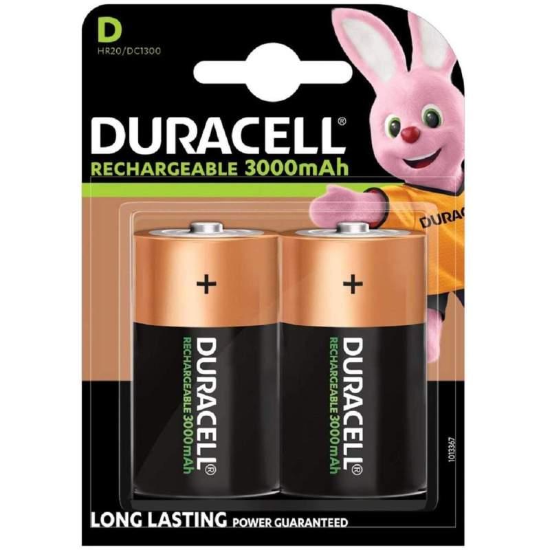 Duracell Rechargeable D / HR20 3000mAh par 2