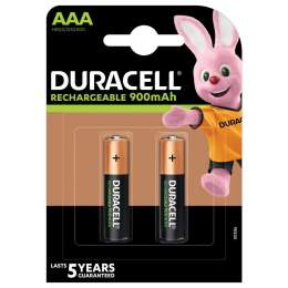 2 Piles Rechargeables AAA / HR03 900mAh Duracell