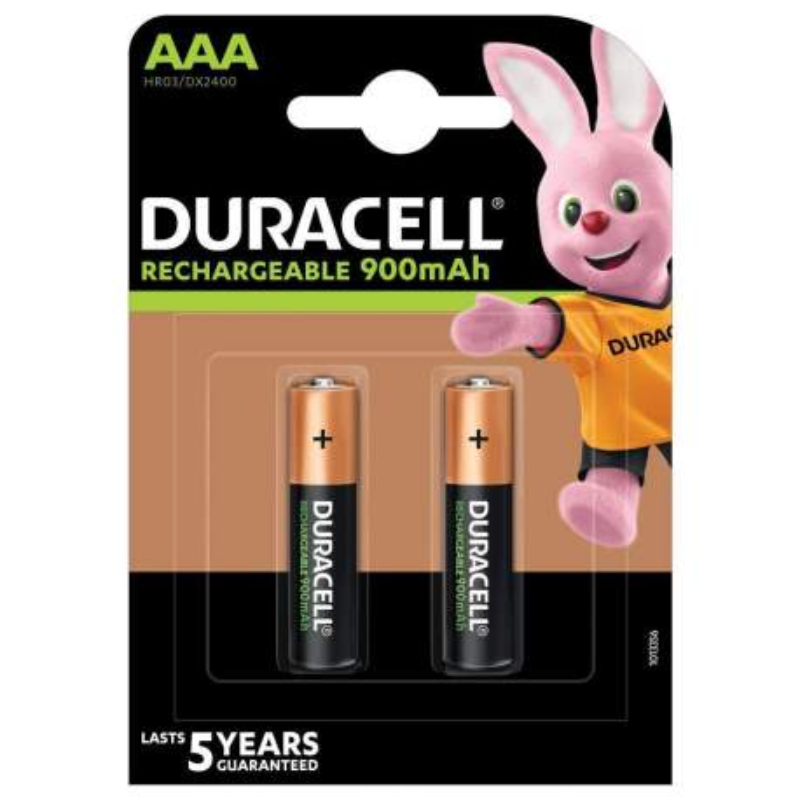 Duracell Rechargeable AAA / HR03 900mAh par 2
