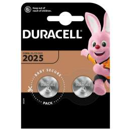 2 Piles CR2025 Duracell Bouton Lithium 3V