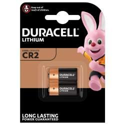 2 Piles CR2 Duracell Lithium 3V
