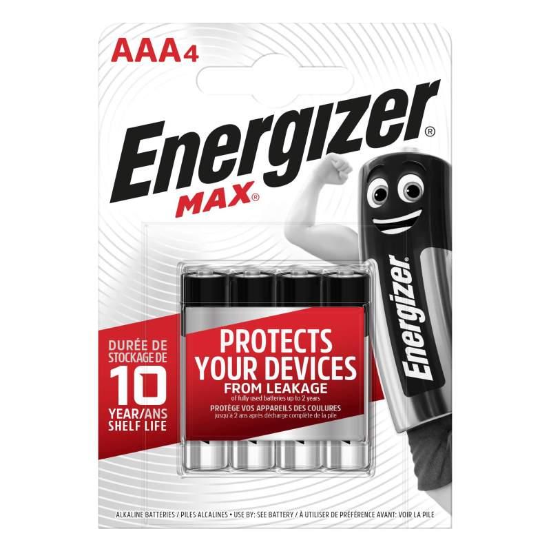 Energizer Alcaline Max AAA / LR03 par 4