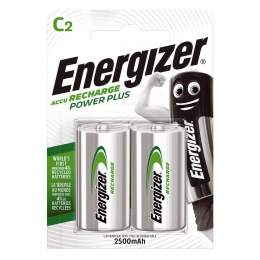 2 Piles Rechargeables C / HR14 2500mAh Energizer Power Plus