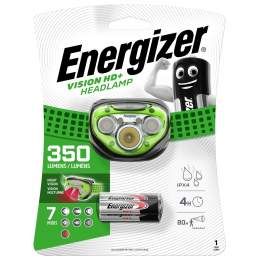 Frontale Energizer Vision HD+ Headlamp 350lm avec 3 piles AAA