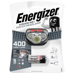 Frontale Energizer Vision HD+ Focus 400lm avec 3 piles AAA