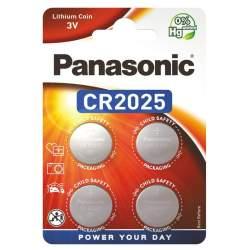 4 Piles CR2025 Panasonic Bouton Lithium 3V