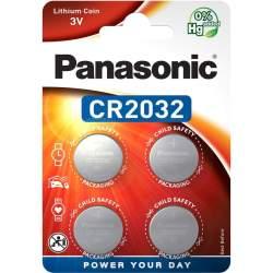 4 Piles CR2032 Panasonic Bouton Lithium 3V
