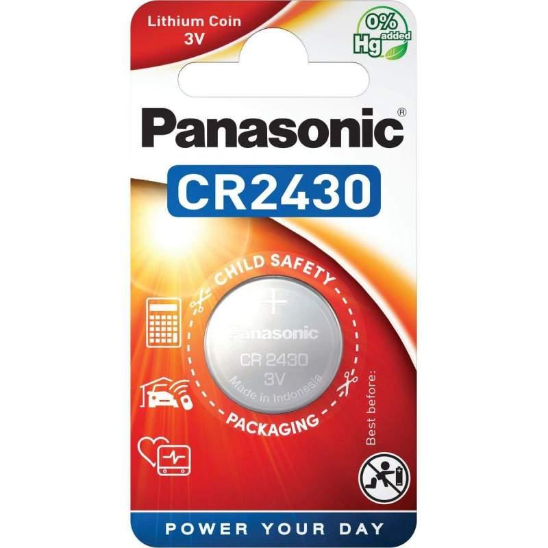 Pile CR2430 Panasonic Bouton Lithium 3V