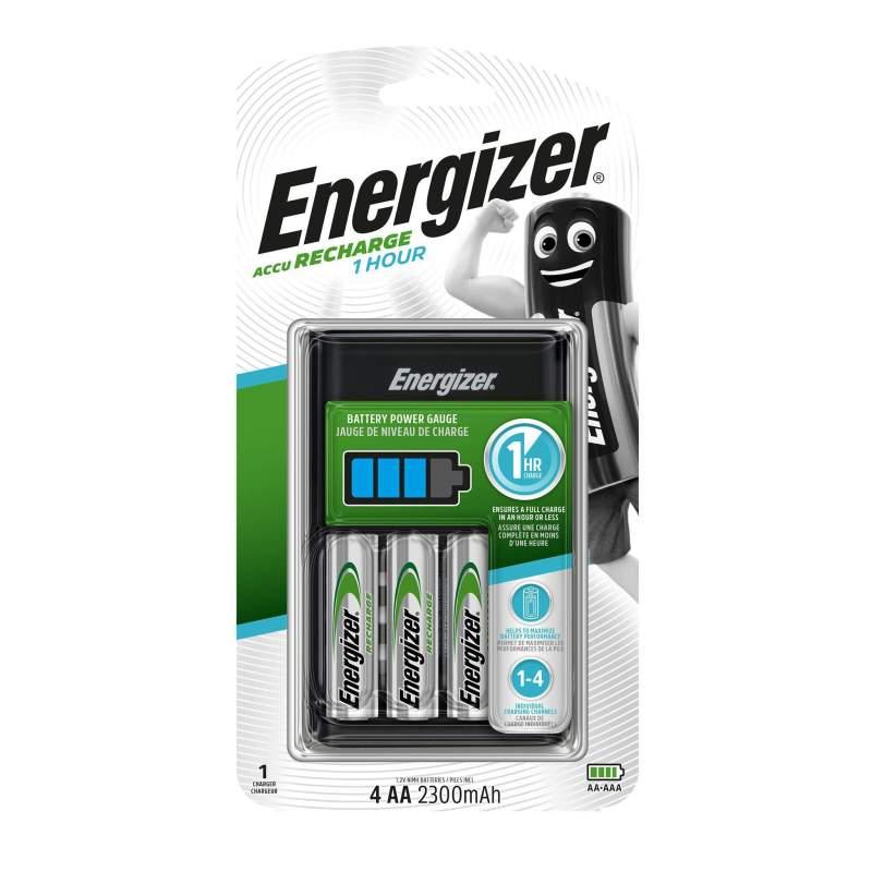 Energizer Chargeur 1 Hour avec 4 piles AA 2300mAh