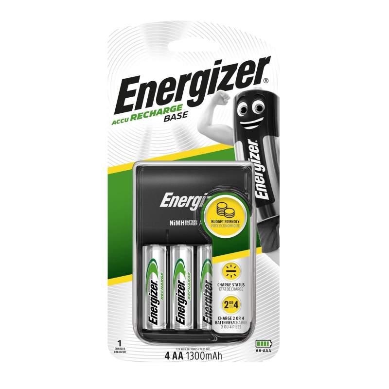 Energizer Chargeur Base avec 4 piles AA 1300mAh