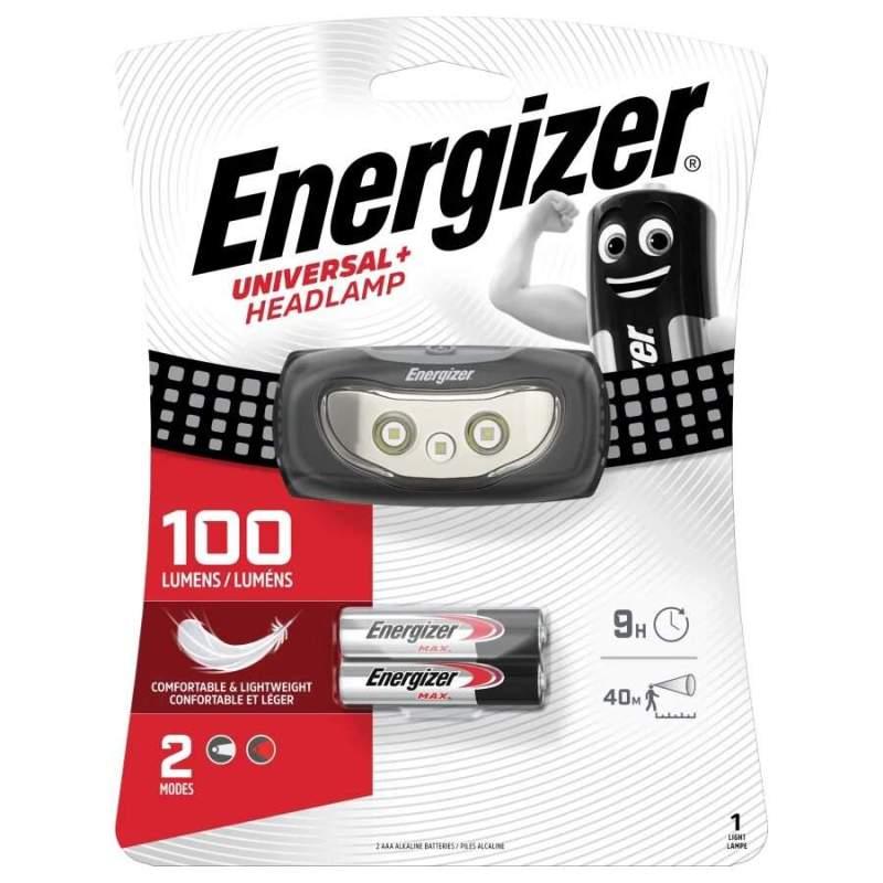 Frontale Energizer Universal+ Headlamp 80lm avec 2 piles AAA
