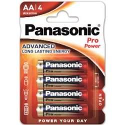 4 Piles Alcalines AA / LR6 Panasonic Pro Power