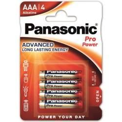 4 Piles Alcalines AAA / LR03 Panasonic Pro Power