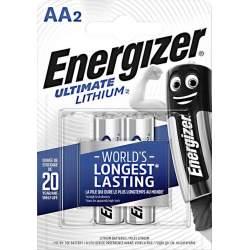 2 Piles Lithium AA / LR6 Energizer Ultimate Lithium