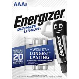 2 Piles Lithium AAA / LR03 Energizer Ultimate Lithium