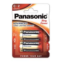 2 Piles Alcalines C / LR14 Panasonic Pro Power