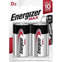 2 Piles Alcalines D / LR20 Energizer Max