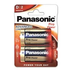 2 Piles Alcalines D / LR20 Panasonic Pro Power