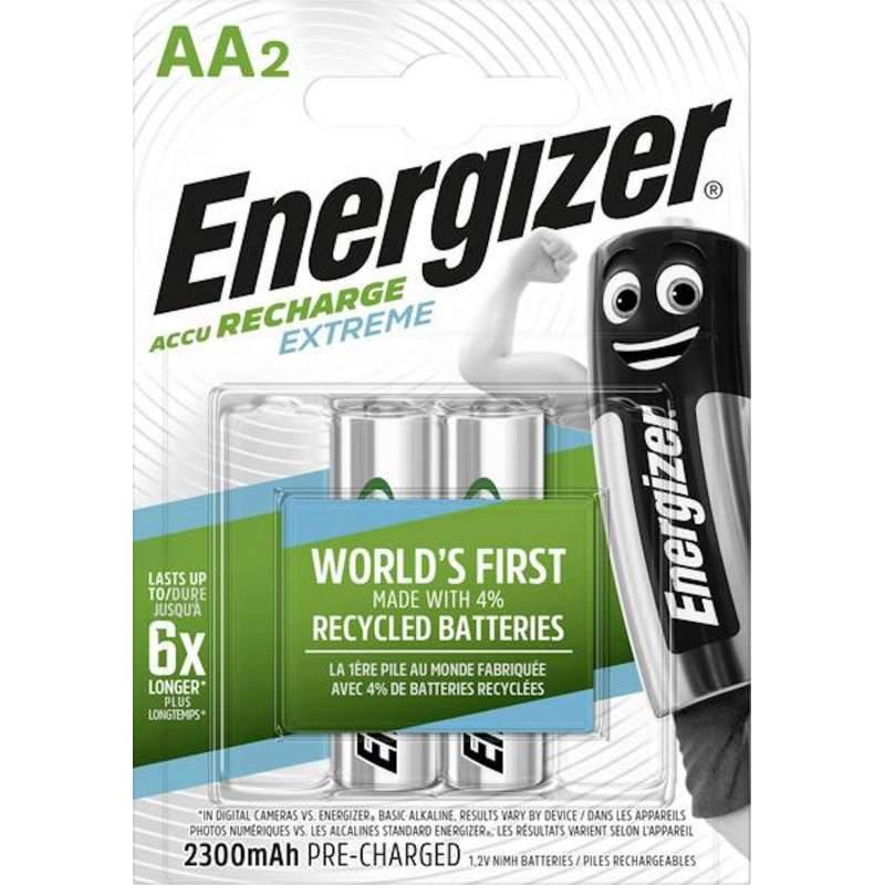 Energizer Rechargeable Extreme AA / HR6 2300mAh par 2